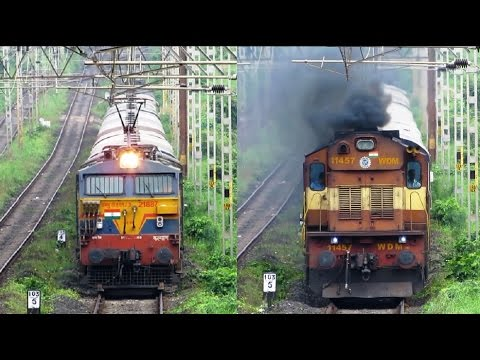Extraordinary Supporters - EXPRESS TRAINS with BANKERS - Indian Railways !!