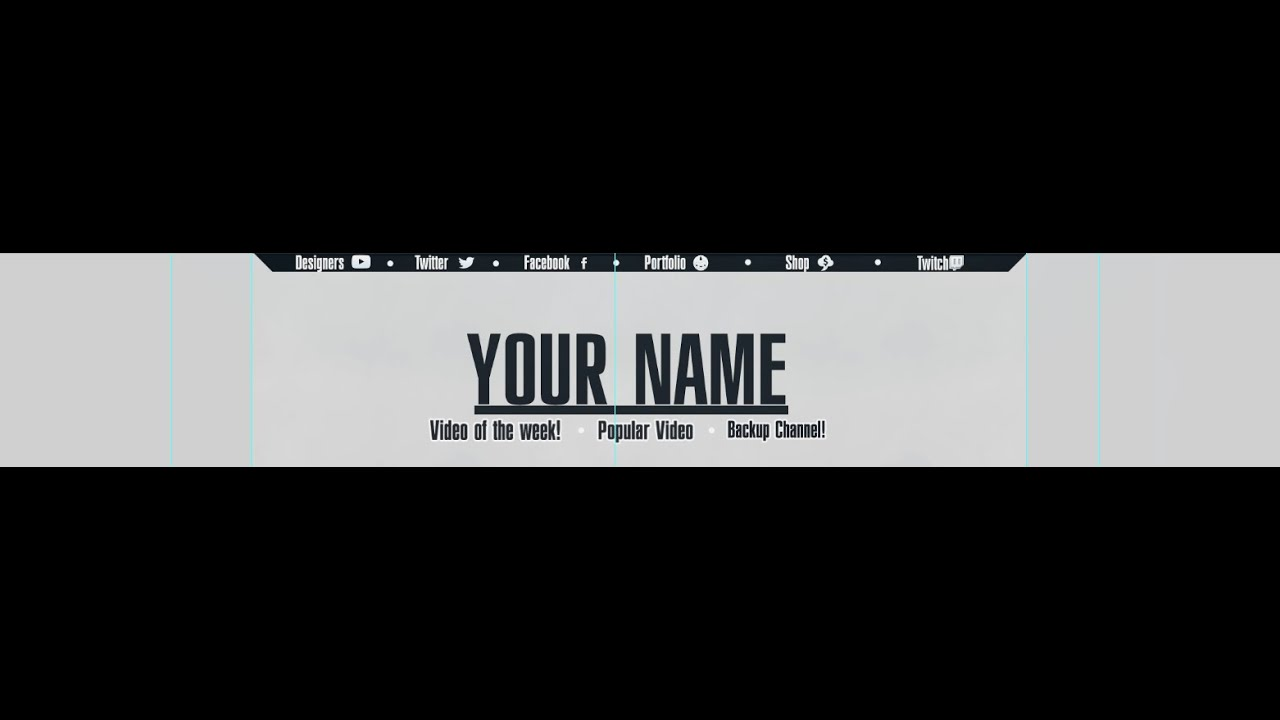 Speedart || Clean 2D banner template (W/ Download) - YouTube