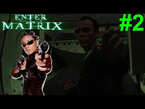 Enter The Matrix PS2 Gameplay #2 [Agent On A Plane!]