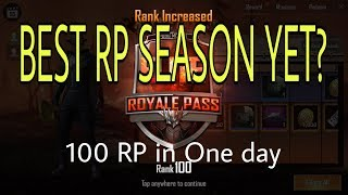 REACHING 100 RP Season 5 in One Day Pubg Mobile