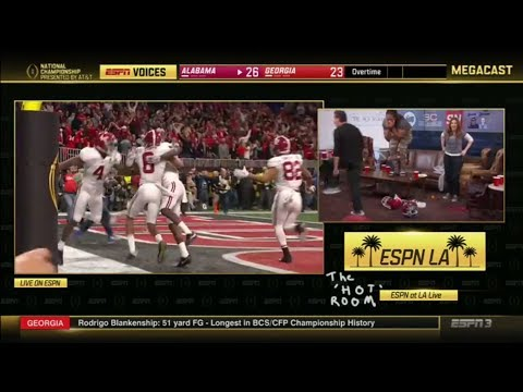 LZ Granderson loses it after Alabama scores the national championship-winning TD | ESPN