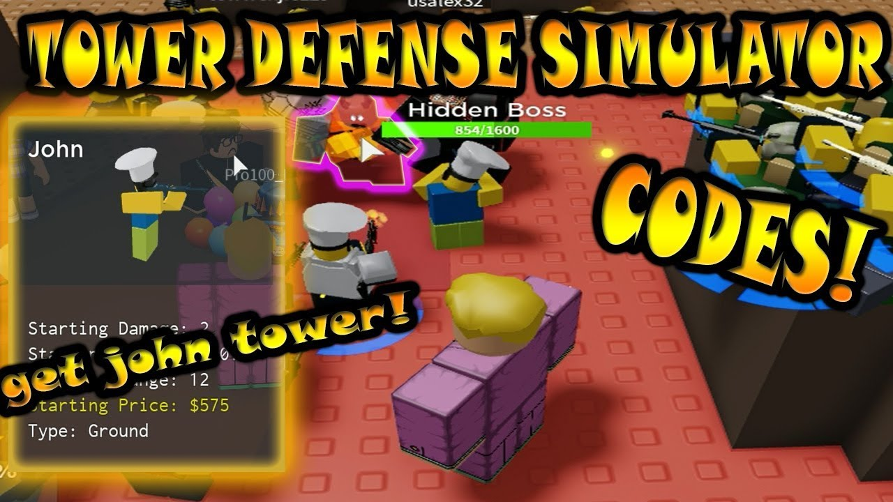 New Tower Defense Game Codes Tower Defense Simulator Youtube