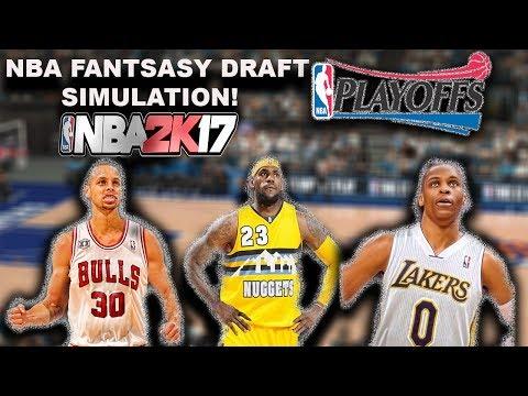 NBA FANTASY DRAFT (Re-Draft League) Season & PLAYOFF SIMULATION!