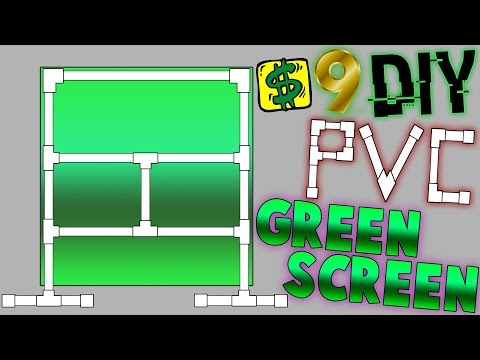 $9 DIY PVC Green Screen for Streaming (Cheap) - YouTube