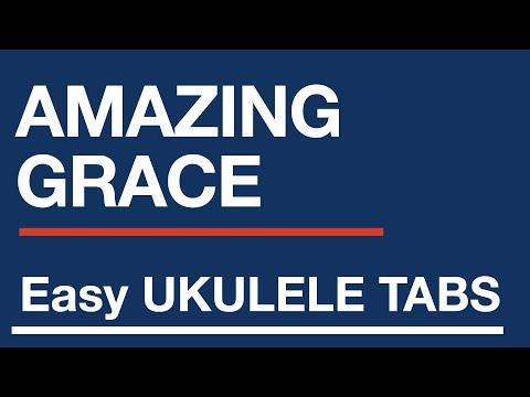 Free easy ukulele tablature sheet music, Amazing Grace