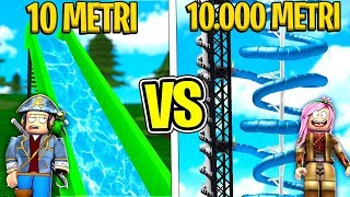 10 METERS or 10,000 METERS FROM WATER SLIDE on ROBLOX