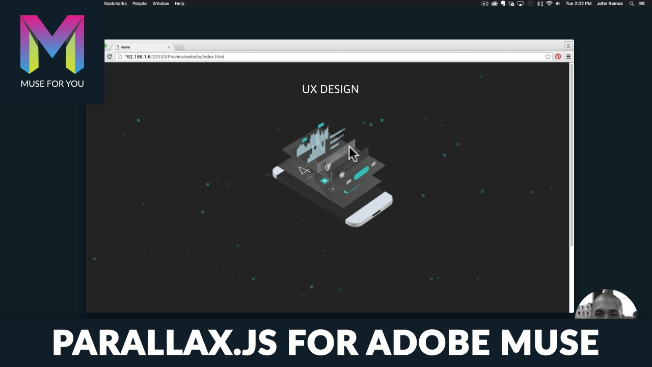 Parallax js UX Phone Design | Parallax Widget | Adobe Muse CC | Muse For You