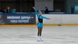 Настя Лушина, 9 лет, соревнования по фигурному катанию