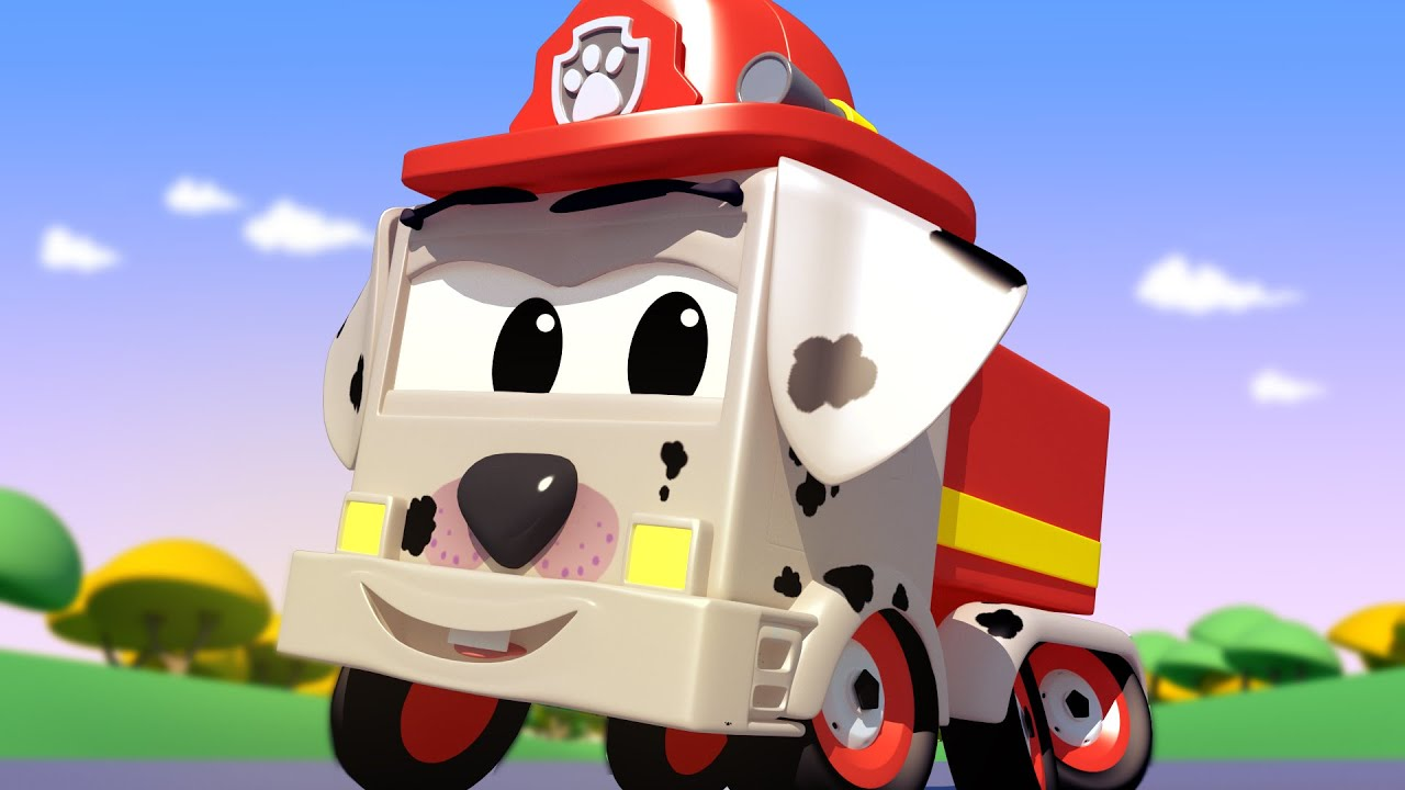 Tom the Tow Truck's Paint Shop - Special puppy day  - Baby Franck is a dalmatian - Trucks cartoons