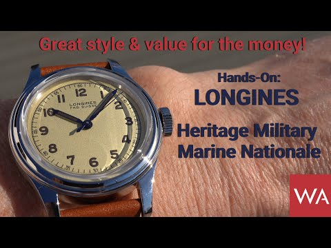 Hands-On: LONGINES Heritage Military Marine Nationale. GREAT
