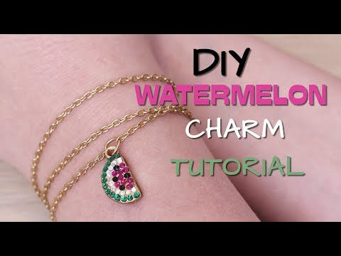 HOW TO WORK WITH UV RESIN / DIY CUTE WATERMELON CHARM TUTORIAL