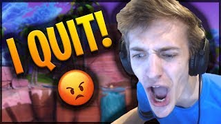 NINJA ANNOUNCES HE IS QUITTING COMPETITIVE FORTNITE! - Fortnite Funny Fails and WTF Moments! #001