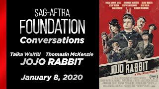 Conversations with Taika Waititi and Thomasin McKenzie of JOJO RABBIT