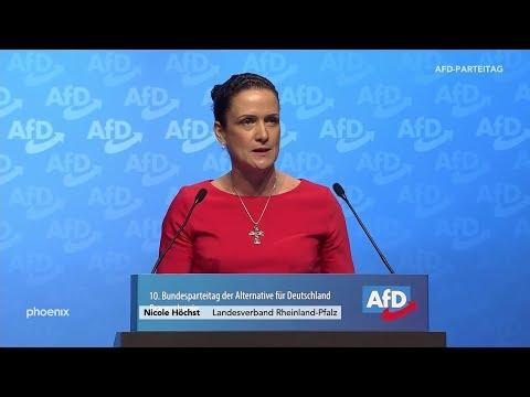 Bewerbungsrede von Nicole Höchst für den Parteivorsitz auf dem AfD-Parteitag am