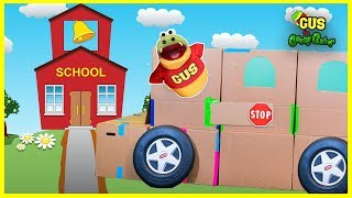 School Bus and Race Car Pretend Play Box Fort Challenge