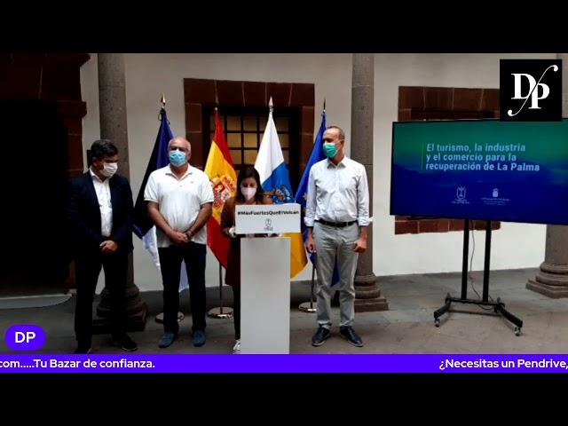 Rueda de prensa del presidente del cabildo con la consejera regional de Turismo