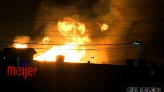 Raw: Big Gas Line Fire, Evacuations Near Detroit