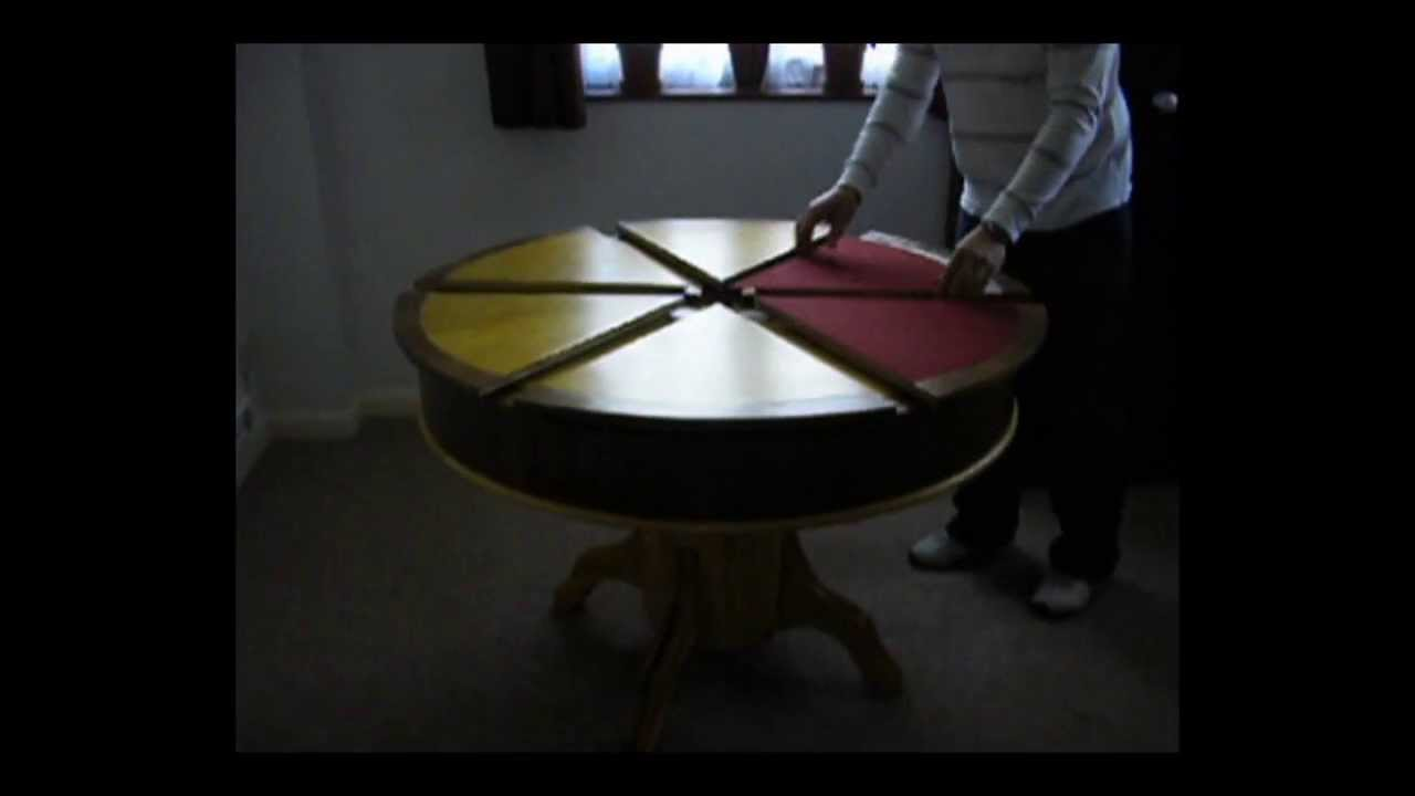 Marvelous Expanding Table And Card Table Together ! Part 3   YouTube