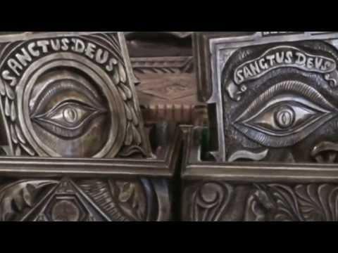 antique handmade wooden rare Casket Masonic vintage - BEAUTIFUL freemasons!