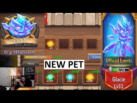 New Pet GLACIE Testing It Out Explaining My Thoughts Castle Clash