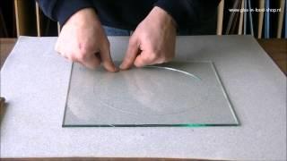 Rond snijden van glas cirkels