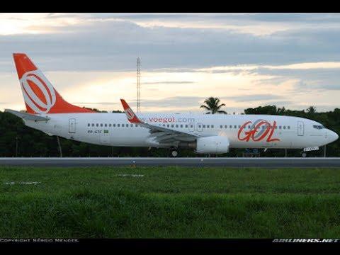 BOING 737-800 da GOL - Voo noturno Brasília a Salvador