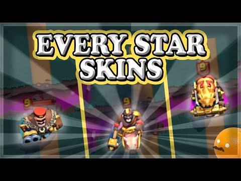 EVERY Star Skin Level 2 And Level 3 Skins | Clash Royale 🍊