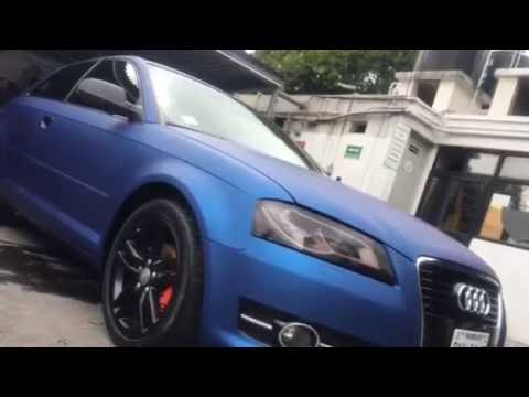 Wrapping Car México. Vinil Arlon ultimate premium plus, color deep ocean en Audi A3