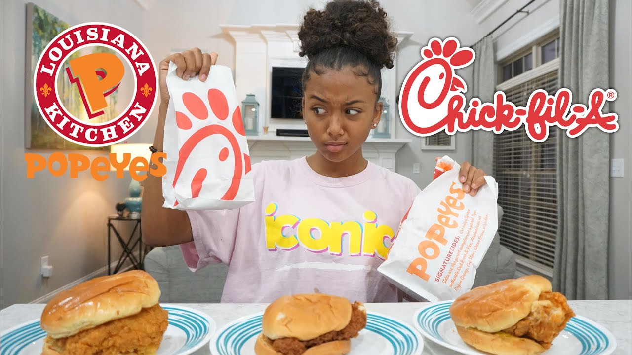 They've never had a chicken sandwich. We asked them to decide: Popeyes or Chick-fil-A?