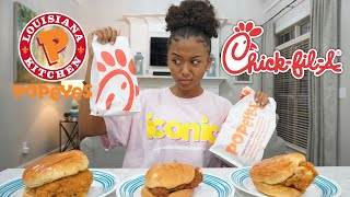 Popeyes Chicken Sandwich vs Chick-Fil-A Chicken Sandwich | LexiVee03