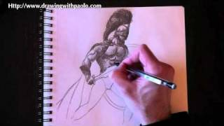 Drawing a Spartan with Paolo Morrone
