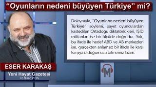 """Eser Karakaş - """"Oyunların nedeni büyüyen Türkiye"""" mi?"""