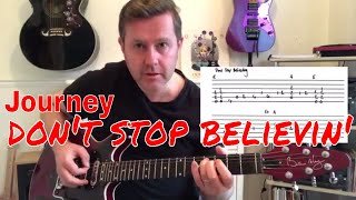 Easy Guitar Lesson - Journey Don't Stop Believin'