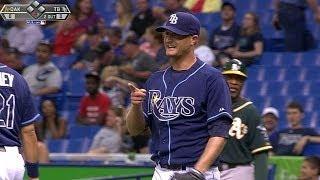 OAK@TB: Cobb pitches 6 2/3 scoreless frames in return