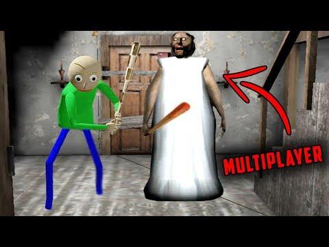 Baldi's Basics Vs Granny In Granny Horror Game MULTIPLAYER! (Baldi's Basics In Granny Horror Game)