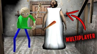Baldi's Basics vs Granny in Granny Horror Game MULTIPLAYER! (Baldi's Basics in Granny Horror Game)