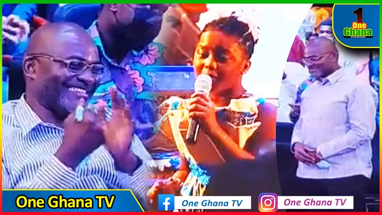 Talented kid NAKEEYAT Wows Kennedy Agyapong with her poetry; Hon. Ken Agyapong preaches to the youth