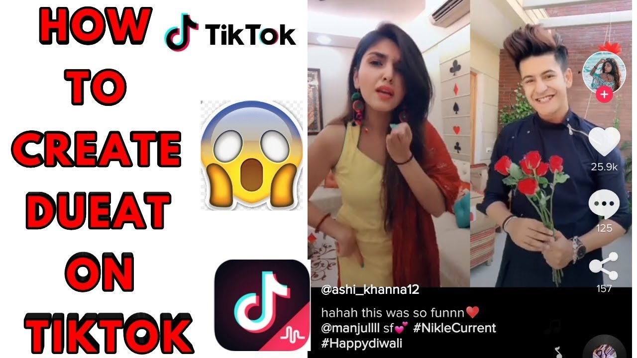 how to make dual video in tiktok  make duet video on tiktok app with other tutorial Realty com 100%