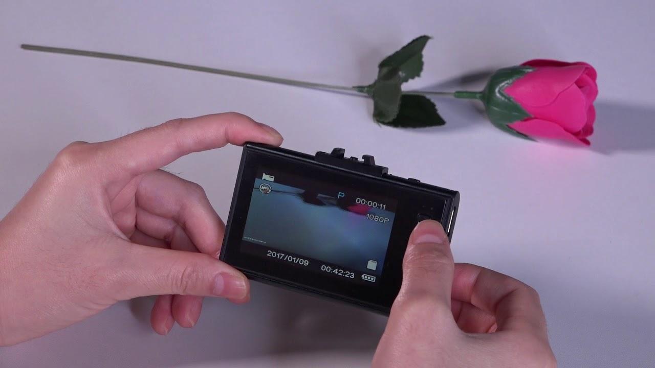 Transcend DrivePro 130 обзор видеорегистратора - YouTube