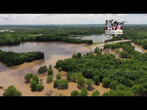 SKY2 gives an aerial look at Skiatook flooding