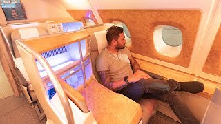 EMIRATES A380 BUSINESS CLASS DETAILED Flight REVIEW! (Video)