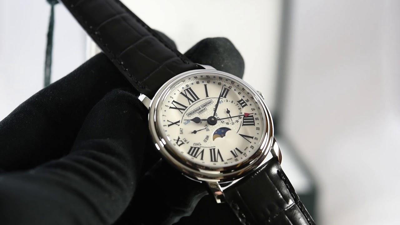 d69142fe34e Frederique Constant Classics Business Timer FC-270M4P6 - YouTube