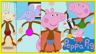 5 PEPPA PIG Little monkeys jumping on the bed - Five Little Peppa Pig Jumping on the bed