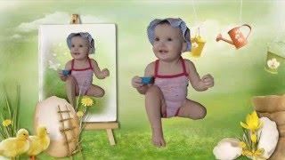Слайд шоу на годик 1 год девочке дочке