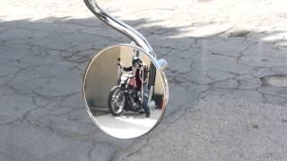 Hot Girl kick starting Her Ironhead Bobber