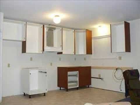 Ikea kitchen cabinet installation - YouTube