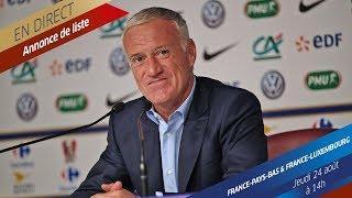 Jeudi 24 : liste des Bleus et conférence de Didier Deschamps en direct