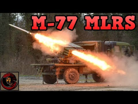 M-77 'Oganj' Multiple Launch Rocket System (MLRS)