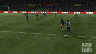 2010 FIFA World Cup Game - Cavani halfway line goal in 3rd Place Playoff - Angle 1