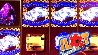 ★ LAS VEGAS MASSIVE WIN ★ $6 MAX BET DA VINCI DIAMONDS! So Many Re-triggers!☞ Slot Traveler